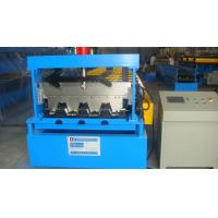 22kw Ridge Cap / Steel Deck Roll Forming Machine with Galvanized Board / 30 Groups Rollers
