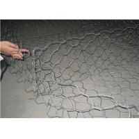 Galvanized Iron Wire Material Gabion Wall Baskets , Stone Cages For Retaining Walls Manufactures