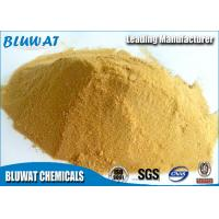 China Polymeric Ferric Sulphate for Wastewater Treatment Plant Pale Yellow Powder 19% on sale