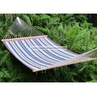 Quality Travel Quilted Fabric Hammock Kids  , Heavy Duty Canvas Hammock Red Blue Stripe for sale