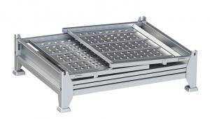 Collapsible Galvanized Steel Q235 Transport Box For Auto Parts Spare parts Manufactures
