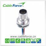 Установка фронта держателя панели соединителей круглого кабеля М12 3ПИН мужская для датчика