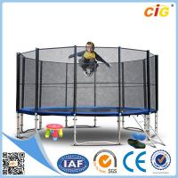 Leisure Steel Bungee Trampoline , Children 14ft Safety Trampoline Park Manufactures