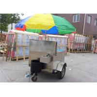 Stainless Steel Food Cart , Fast Food Mobile Cart Food Trailer Manufactures