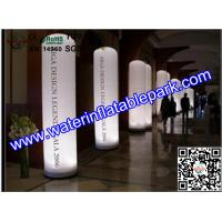 Colorful Inflatable Decoration LED Light Column Ripstop Fabric Manufactures