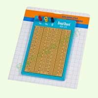 Blue Plate Brown Solderless Circuit Board With Blue / Red Lines 1680 Points Manufactures