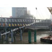 Q345B Pre Engineered Modular Steel Bailey Bridge Heavy Capacity Long Fatigue Lifespan Manufactures