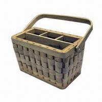 Wooden Basket, Various Sizes, Shapes and Colors are Available, Used for Gifts Manufactures