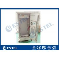 China 19 Electric Outdoor Telecom Cabinet With Heat Exchanger Cooling Double Layer Metal Sheet on sale