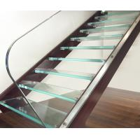 Ultra Clear Tempered Laminated Glass For Stairs High Strength ISO 12543 Manufactures