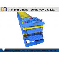 Steel Tile Roll Forming Machine 18 Groups Rollers / Hydraulic Control System for Fencing Manufactures