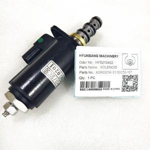 Solenoid KDRDE5K-31 30C50-107 YB35V00005F1 For Kobelco SK230-6E Excavator Manufactures