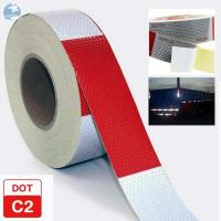 Traffic Emergency DOT Reflective Tape , Dot Trailer Markings 2 Inch x 150 Feet Roll Manufactures