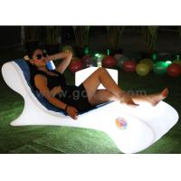 Waterproof Plastic LED Lounge Chair For Pool With Infrared Remote Control Manufactures