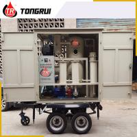 Double Stage Vacuum Used Transformer Oil Purification Machine ZJA With Trailer Manufactures