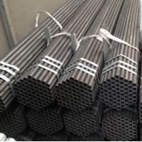 China factory price Black Painted ERW Steel Pipe with Bevel Ends Manufactures