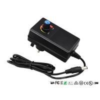 CE UL Adjustable Output Voltage Wall Adapter Power Supply With Adjustable Switch Manufactures