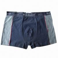 Buy cheap Boxer Shorts, Made of Bamboo Charcoal and Copper Yarn, Anti-bacterial from wholesalers