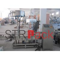 Cheap Automatic Single Head Capping Machine Bottling Equipment , PLC Control System for sale