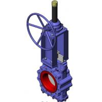 Cheap Heavy Duty Knife Cast Steel Gate Valve With Tipe Handwheel And Rising Stem for sale