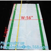 Gusseted Side/Square Bottom Pallet Bags PE Pallet Covers, Giant Black Opaque Poly Bag Pallet Covers and Liners, vinyl co Manufactures