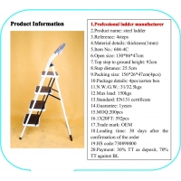 Stainless Steel 1mm Multi Purpose Folding Ladder Manufactures