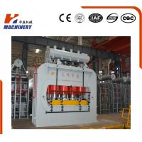 Automatic Floor Laminate Hot Press Machine For Pressing V Groove , Grasping Grain