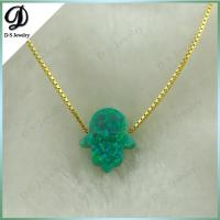 10*12 gold hamsa necklace opal jewerly Manufactures