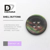Multicolor Pearl Shell Buttons 4 Holes For Baby Clothing / Woolen Sweater Manufactures