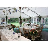 China Wind Resistant Outdoor Luxury Wedding Tents Marquee Aluminum Profile on sale