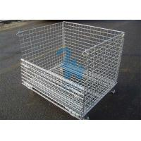 China Fireproof Wire Mesh Storage Cages Containers For Hardware Tools 1500kgs Loading Capacity on sale