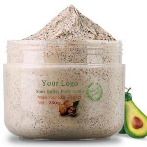 Deep Cleansing Body Scrub / Exfoliating Natural Shea Butter Body Scrub Manufactures
