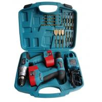Portable 18pcs Twins Electric Cordless Drill Battery Power Screwdriver Set and Accessories Manufactures