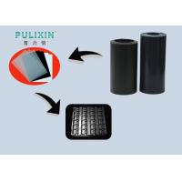 Low Density 1.6mm High Gloss Plastic Sheet For Electronic Tray , Black Manufactures