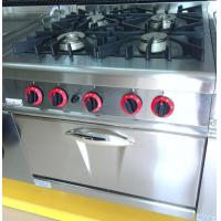 Cheap LPG / Natural Gas 4 Burner Cooking Range Impulsive Ignition Stainless Steel Gas Stove for sale