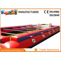 China 0.55mm PVC Tarpaulin Inflatable Sports Games , Outdoor Human Table Football on sale