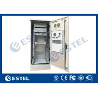 Single Wall Heat Insulation 38U Outdoor Telecom Enclosure 750x700x2000 With DC Air Conditioner Manufactures