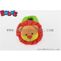 Soft Short Plush Stuffed Lion Toy Baby Indoor Shoes with Rattle Manufactures