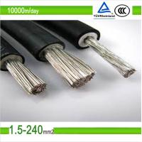 1.5mm2/2.5mm2/4mm2/6mm2/10mm2 black color pv solar photovoltaic cable Manufactures
