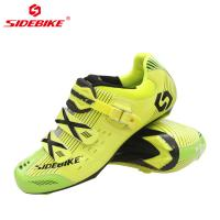 Anti Skid Fluorescent Cycling Shoes , Road Bike Riding Shoes Low Wind Resistance Manufactures