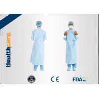 Dark Green Disposable Surgical Gown Non Woven  Lab Gowns Lightweight Blood Proof Manufactures