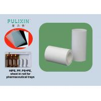 High Impact 2mm HIPS / PE Plastic Sheet Thermoforming Plastic Rolls , White / Black Manufactures