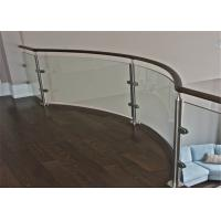 Tempered Stainless Steel And Glass Railings System , Glass Balustrade Systems For Decking Manufactures
