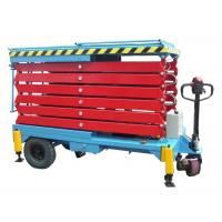 China 14M Mobile Hydraulic Scissor Lift with Motorized Device Loading Capacity at 450Kg on sale