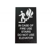 "ICOF Stair ADA Elevator Signs 2 Clear Braille 1/8"" Acrylic Panel Material Durable Manufactures"