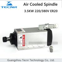 Buy cheap 3.5KW air cooled spindle 220V 380V ER20 with 4 ceramic bearing from wholesalers