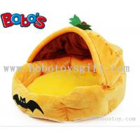 Specially Design Plush Stuffed Pumpkin With Bats Pet Bed As Hallowmas Gift for dog cat Manufactures