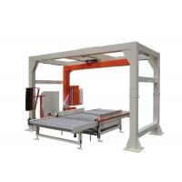 Gray And Yellow Pallet Shrink Wrap Machine , Fully Automatic Stretch Wrapping Equipment Manufactures