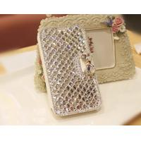 Cheap Luxury Bling Diamond Bowknot Leather Mobile Phone Cases For Samsung Galaxy S2 for sale