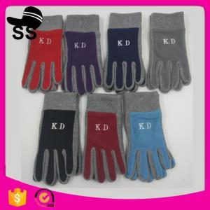 2017 On stock double layer new design the cheapest 11*24cm 67g 100%polyester warm non-slip winter polar fleece gloves Manufactures